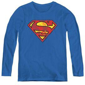 SUPERMAN ACTION SHIELD-WOMENS LONG SLEEVE