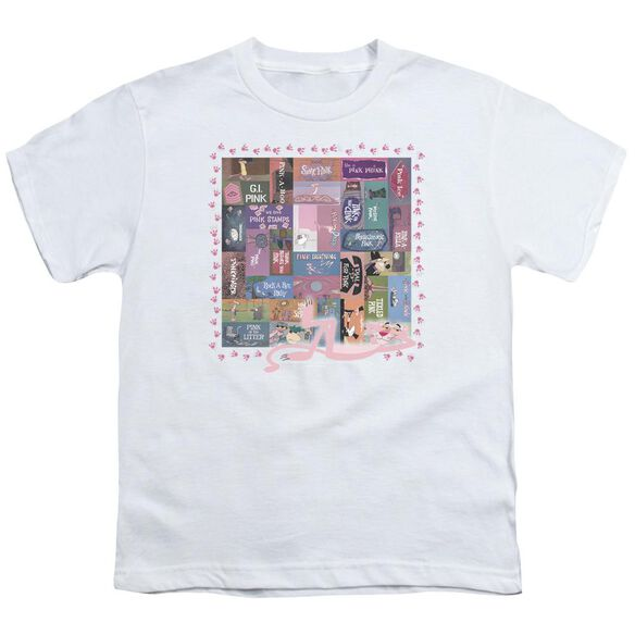 Pink Panther Vintage Titles Short Sleeve Youth T-Shirt