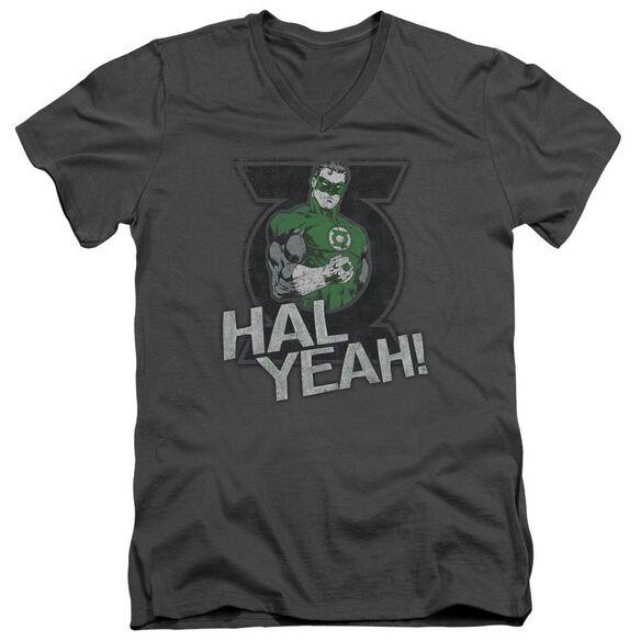 Green Lantern Hal Yeah Short Sleeve Adult V Neck T-Shirt