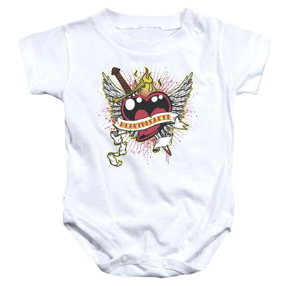 Heartbreaker Infant Snapsuit White Md