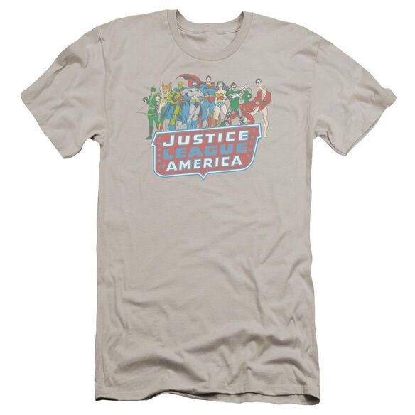 Dc Jla Lineup Premuim Canvas Adult Slim Fit
