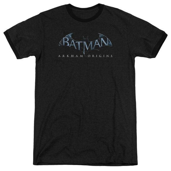 Batman Arkham Origins Logo Adult Heather Ringer