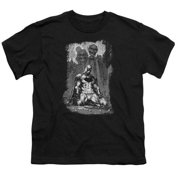 Batman Sketchy Shadows Short Sleeve Youth T-Shirt