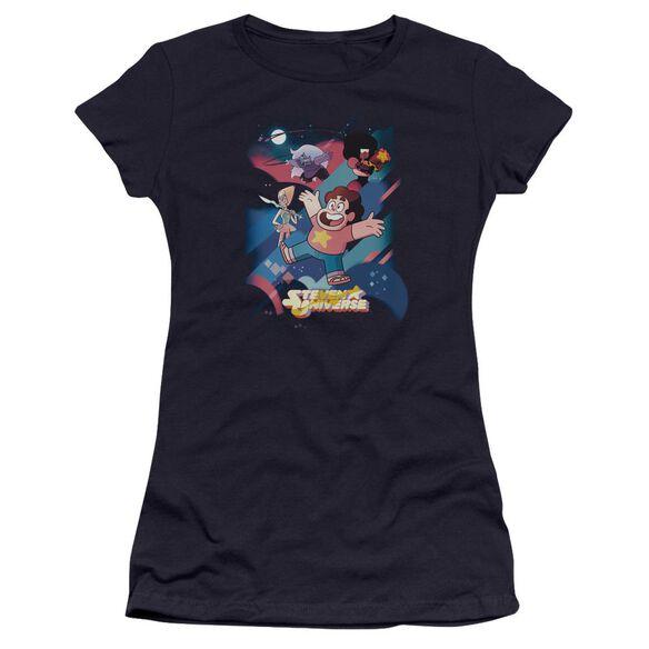 Steven Universe Group Shot Hbo Short Sleeve Junior Sheer T-Shirt
