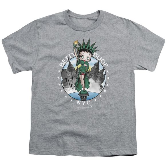 Betty Boop Nyc Short Sleeve Youth Athletic T-Shirt