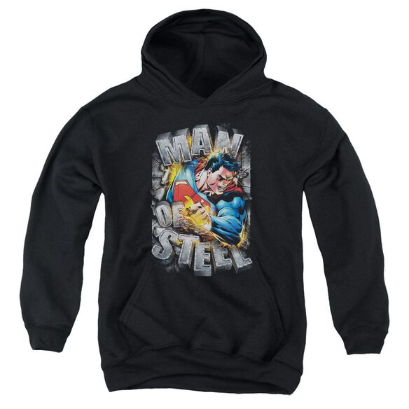 Superman Ripping Steel Youth Pull Over Hoodie