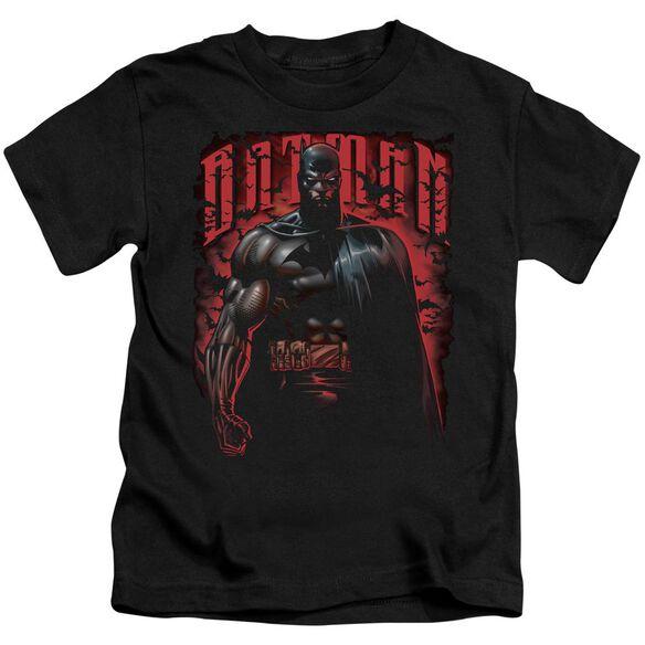 Batman Red Knight Short Sleeve Juvenile Black Md T-Shirt