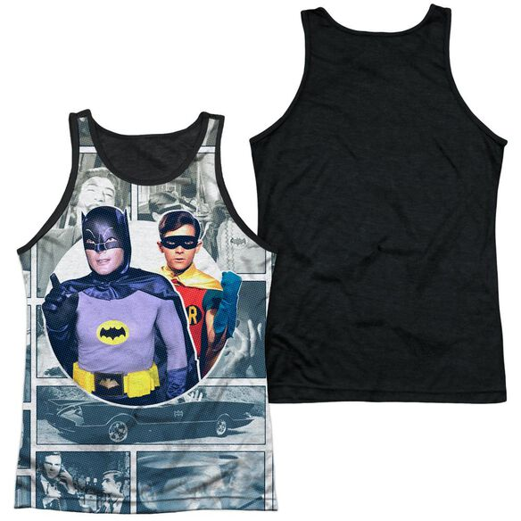 Batman Classic Tv 60 S Panels Adult Poly Tank Top Black Back
