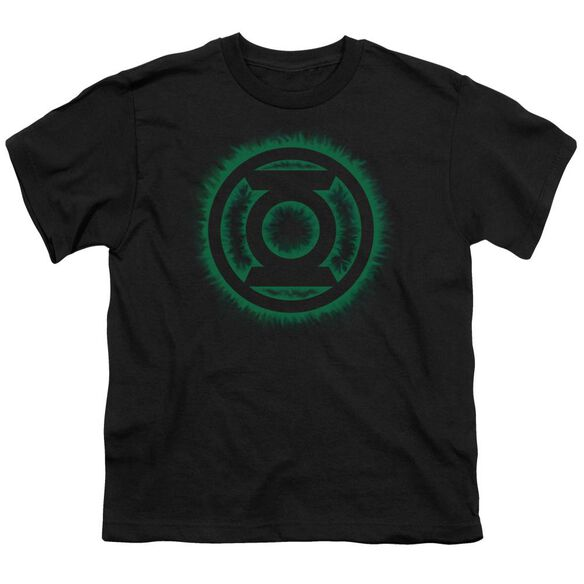 Green Lantern Green Flame Logo Short Sleeve Youth T-Shirt