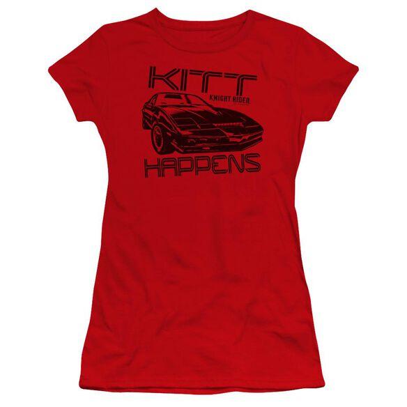 Knight Rider Kitt Happens Premium Bella Junior Sheer Jersey