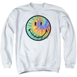 Smiley World Tie Dye Face Adult Crewneck Sweatshirt