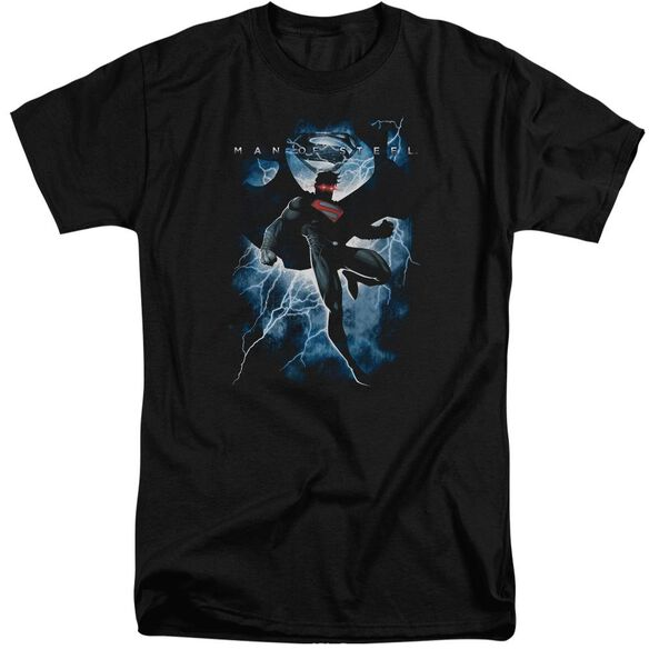 Man Of Steel Steel Lightning Short Sleeve Adult Tall T-Shirt