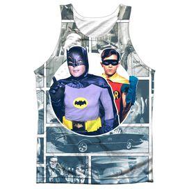 Batman Classic Tv 60 S Panels Adult 100% Poly Tank Top