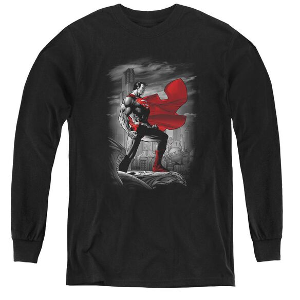 Superman Metropolis Guardian - Youth Long Sleeve Tee - Black