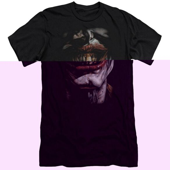 BATMAN SMILE OF EVIL - S/S ADULT 30/1 - BLACK T-Shirt