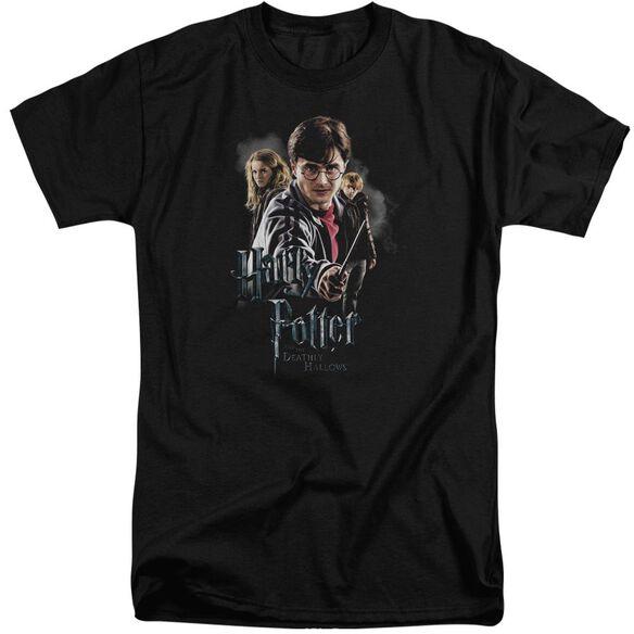 Harry Potter Deathly Hollows Cast Short Sleeve Adult Tall T-Shirt