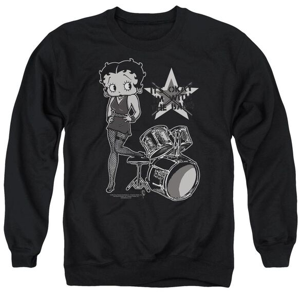 Betty Boop With The Band Adult Crewneck Sweatshirt