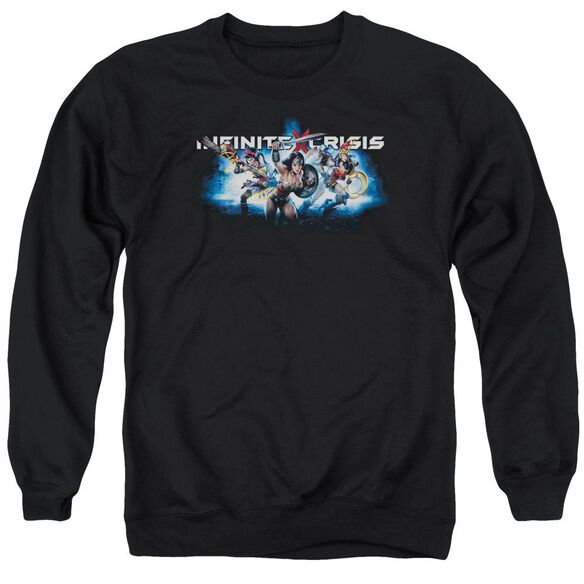 Infinite Crisis Ic Blue Adult Crewneck Sweatshirt