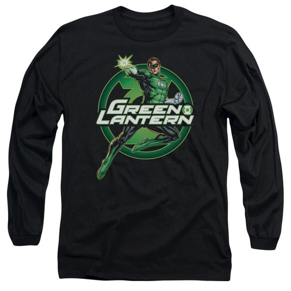Jla Lantern Glow Long Sleeve Adult T-Shirt