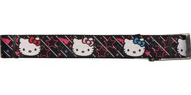 Hello Kitty Faces Outline Stars Black Wide Mesh Belt
