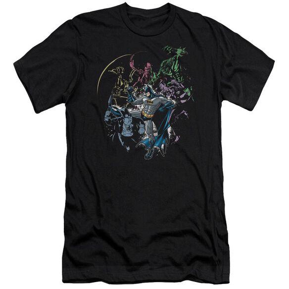 BATMAN SURROUNDED - S/S ADULT 30/1 - BLACK T-Shirt