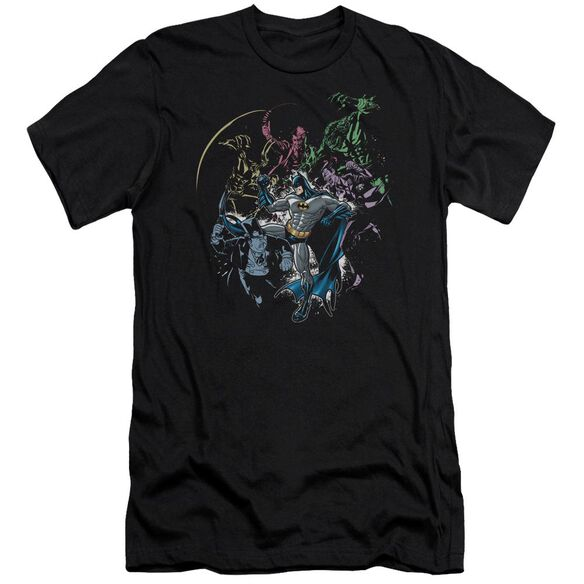 BATMAN SURROUNDED - S/S ADULT 30/1 - BLACK T-Shirt
