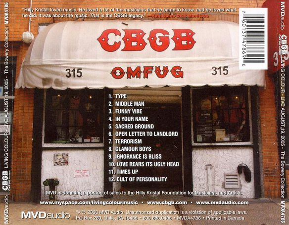 Cbgb Omfug Masters: 8 19 05 Bowery Collection