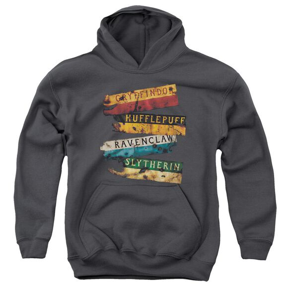 Harry Potter Burnt Banners Youth Pull Over Hoodie