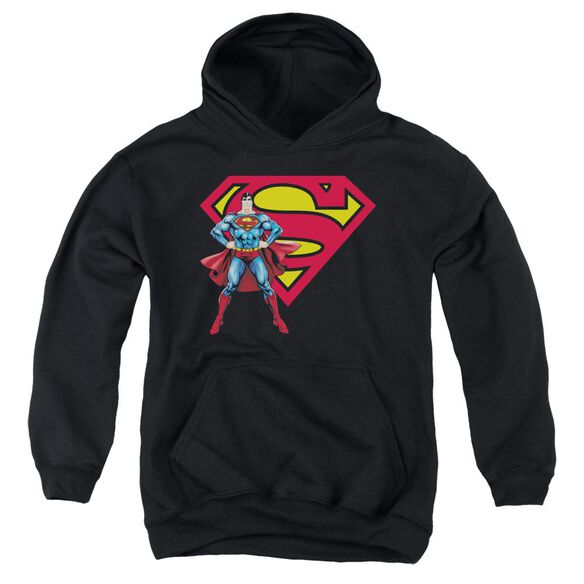 Superman Superman & Logo Youth Pull Over Hoodie