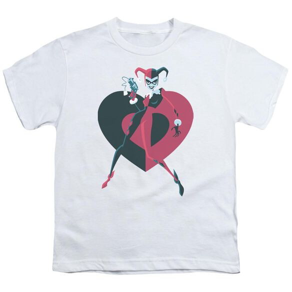 Batman Harely Heart Short Sleeve Youth T-Shirt