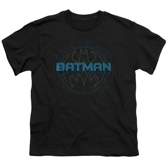 BATMAN BAT TECH LOGO - S/S YOUTH 18/1 - BLACK T-Shirt