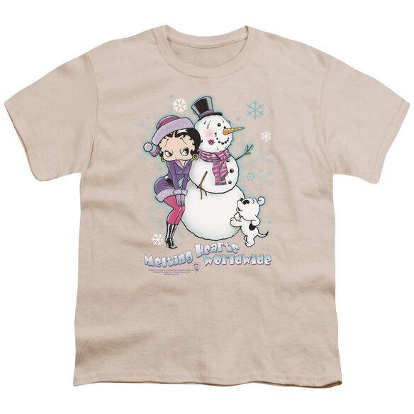 Betty Boop Melting Hearts Short Sleeve Youth T-Shirt