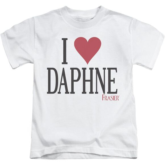 Frasier I Heart Daphne Short Sleeve Juvenile White T-Shirt