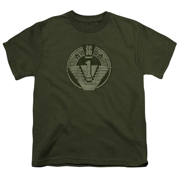 Stargate Sg1 Distressed Short Sleeve Youth Military T-Shirt