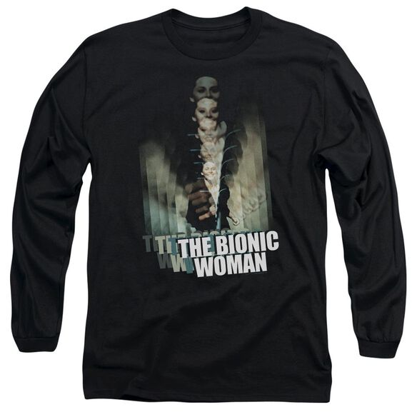 Bionic Woman Motion Blur Long Sleeve Adult T-Shirt