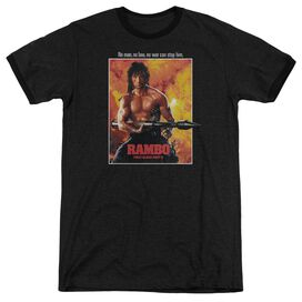 Rambo: First Blood Ii Poster Adult Heather Ringer Black