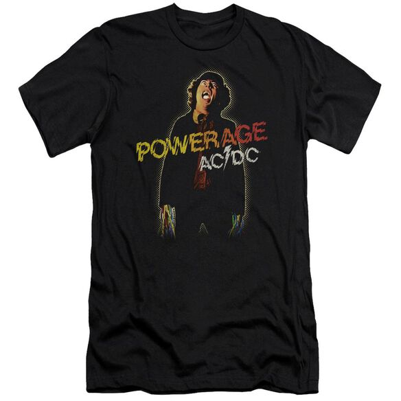 Acdc Powerage Premuim Canvas Adult Slim Fit