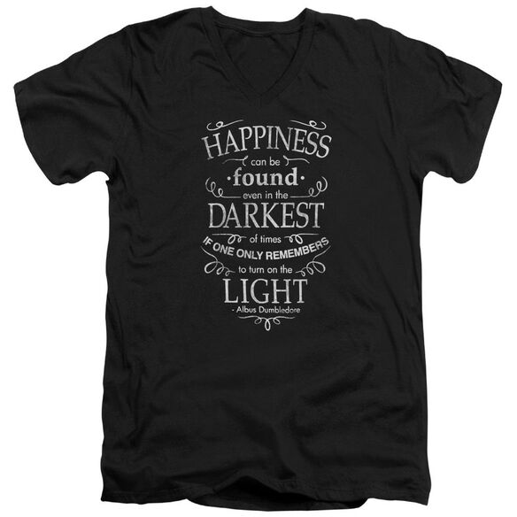 Harry Potter Happiness Short Sleeve Adult V Neck T-Shirt