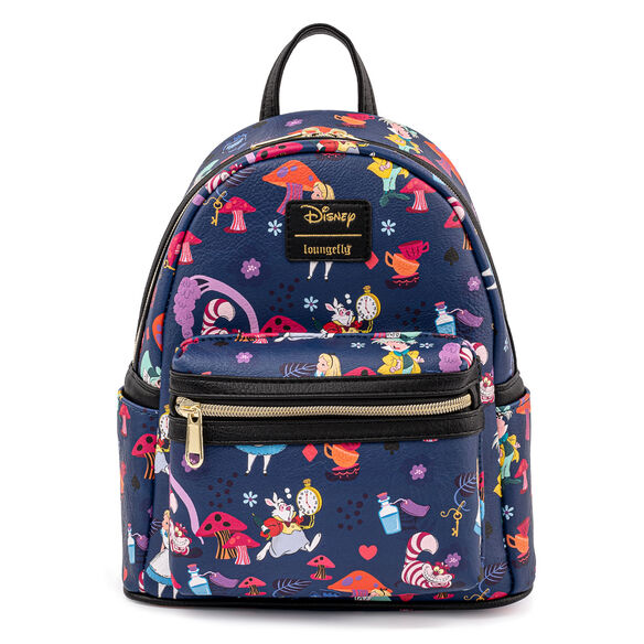 Loungefly Alice In Wonderland All Over Print Mini Backpack