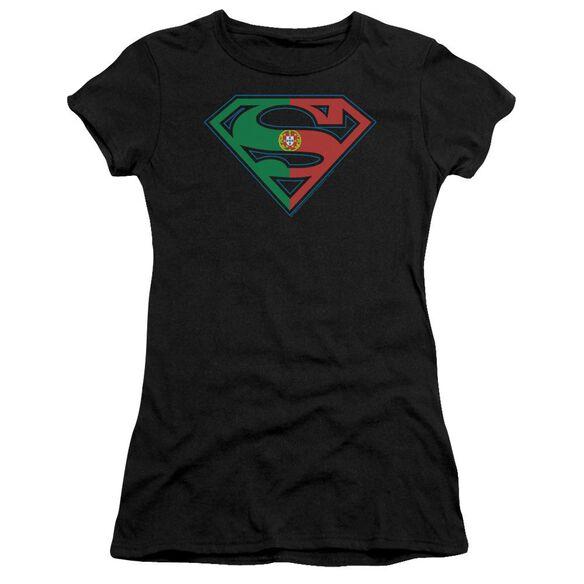 Superman Portugal Shield Premium Bella Junior Sheer Jersey