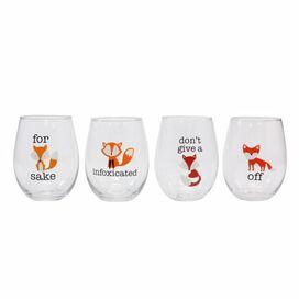 Fox Wine Glasses [Set of 4]