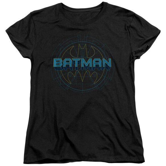 BATMAN BAT TECH LOGO - S/S WOMENS TEE - BLACK T-Shirt