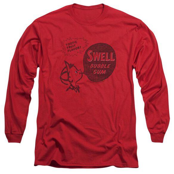 Dubble Bubble Swell Gum Long Sleeve Adult T-Shirt