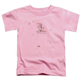Garden I Dig Being Dirty Short Sleeve Toddler Tee Pink T-Shirt