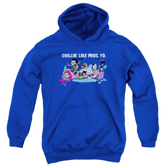 Teen Titans Go Like Pros Yo Youth Pull Over Hoodie Royal