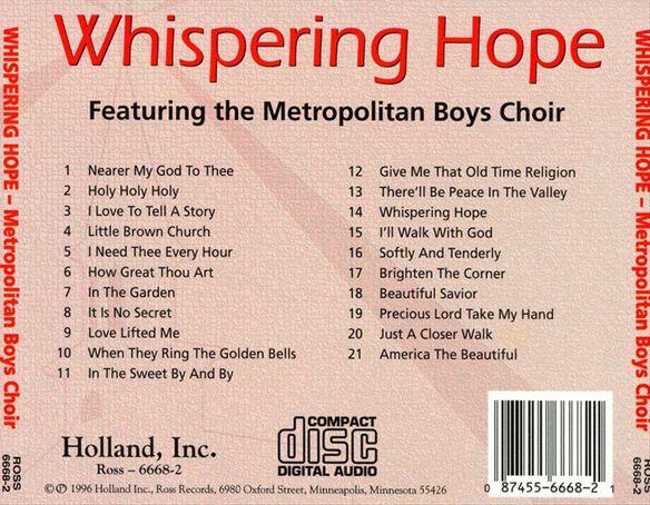 Whispering Hope: 21 Hymns