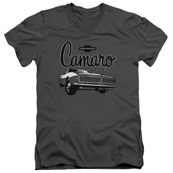 Chevrolet Script Car Short Sleeve Adult V Neck T-Shirt