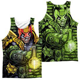 Judge Dredd Matrix (Front Back Print) Adult 100% Poly Tank Top