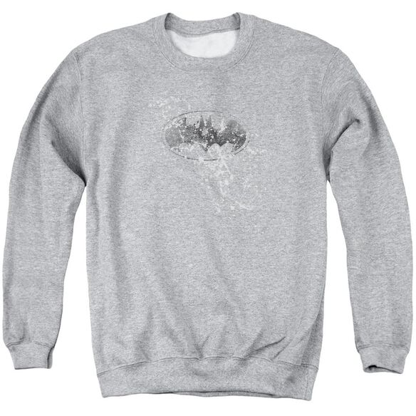 Batman Burned &Amp; Splattered Adult Crewneck Sweatshirt Athletic