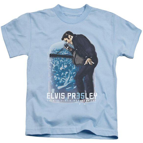 Elvis 35 Th Anniversary 3 Short Sleeve Juvenile Light Blue T-Shirt